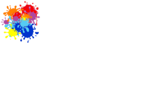 Splattered Paint Marketing white logo