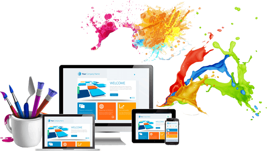 Painted Canvas Website Design by Splattered Paint Marketing